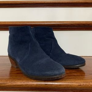 Boden Navy Suede Ankle Boots